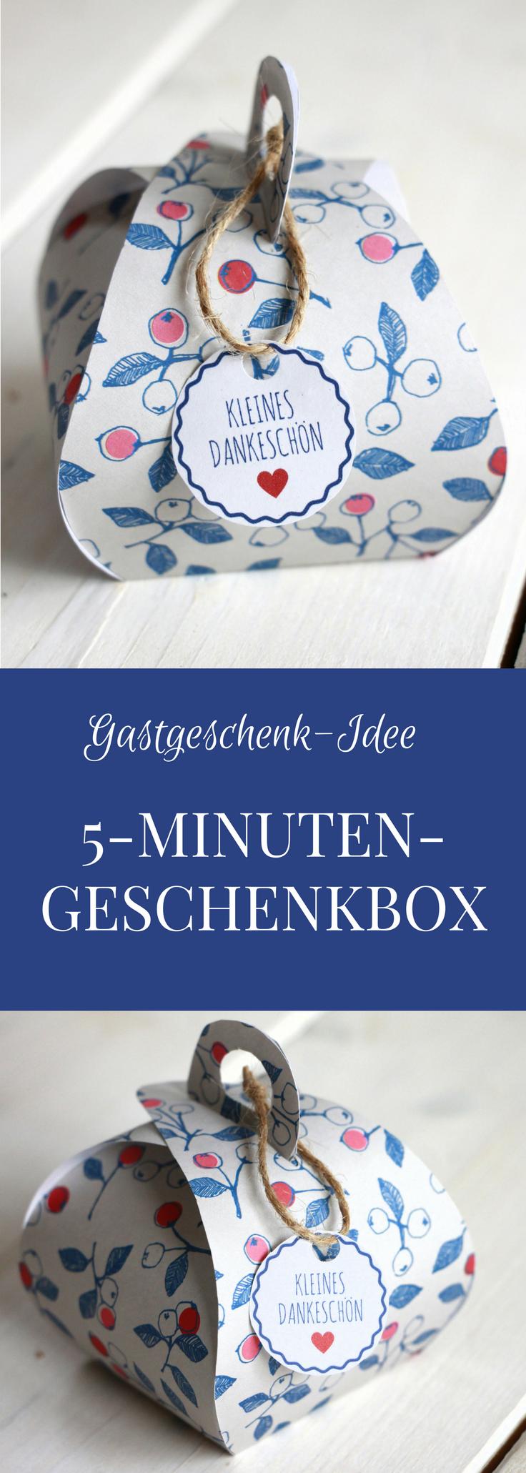 Schnelles Dankeschön Geschenk Geschenkbox Basteln Inkl