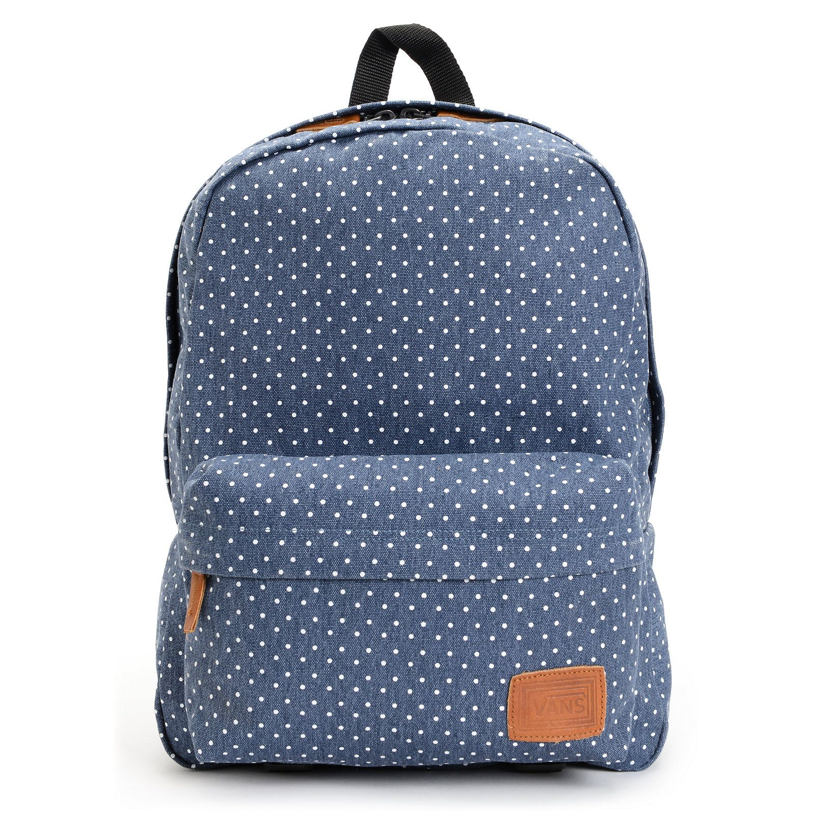 5b5387fb0c2c Vans Deana Polka Dot Print Blue Backpack at Zumiez   PDP