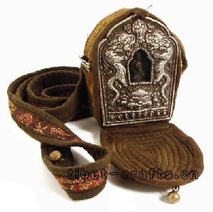 Tibetan ghau prayer box amulet ... made in Nepal by handcraft.