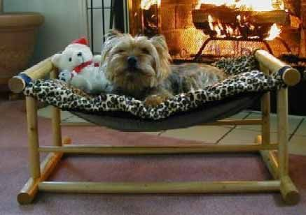a doggie hammock  so cute  doesn u0027t look like he can tear this up like the pillow      rh   pinterest