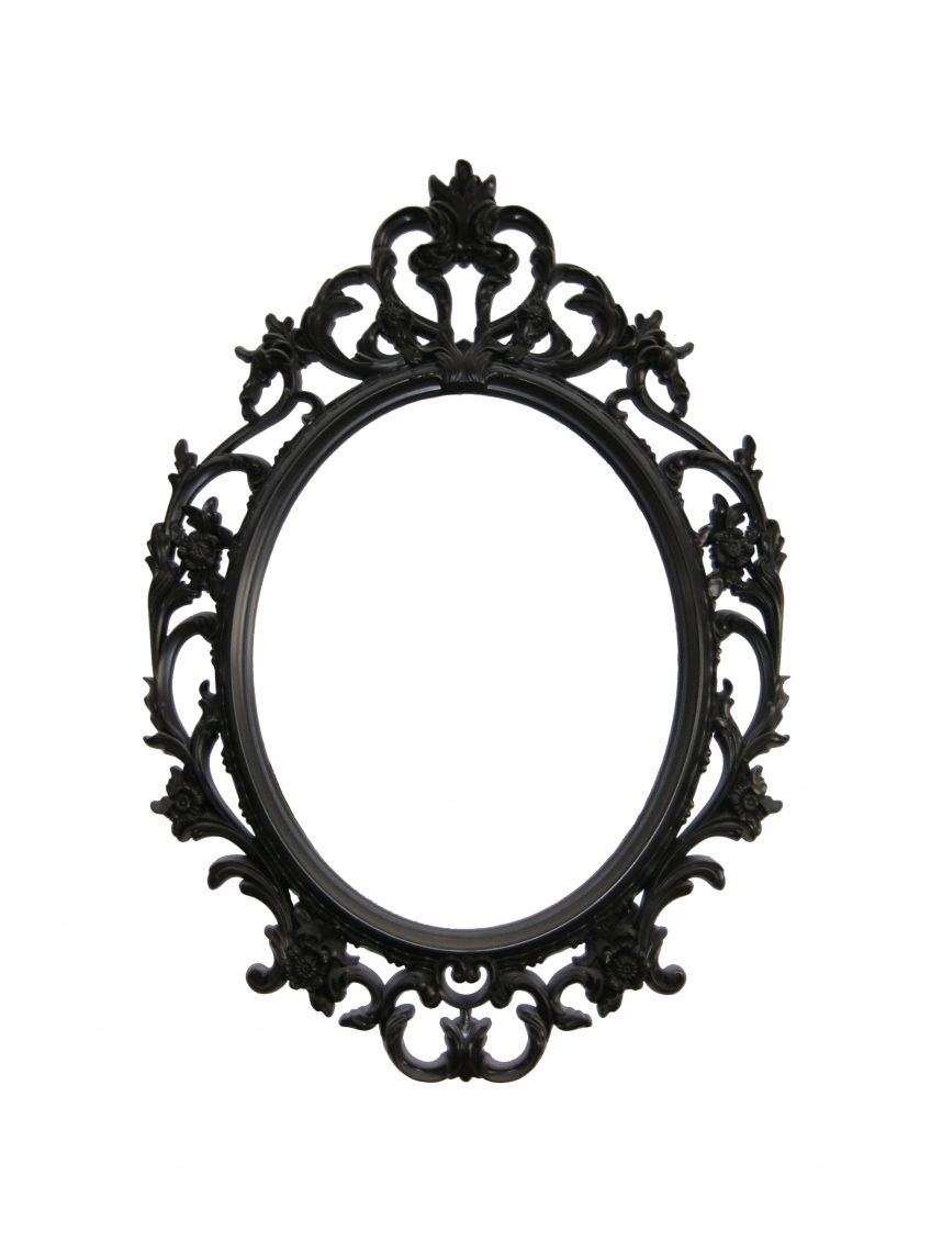 I own this mirror in gold + want to add black...] - Black Framed ...
