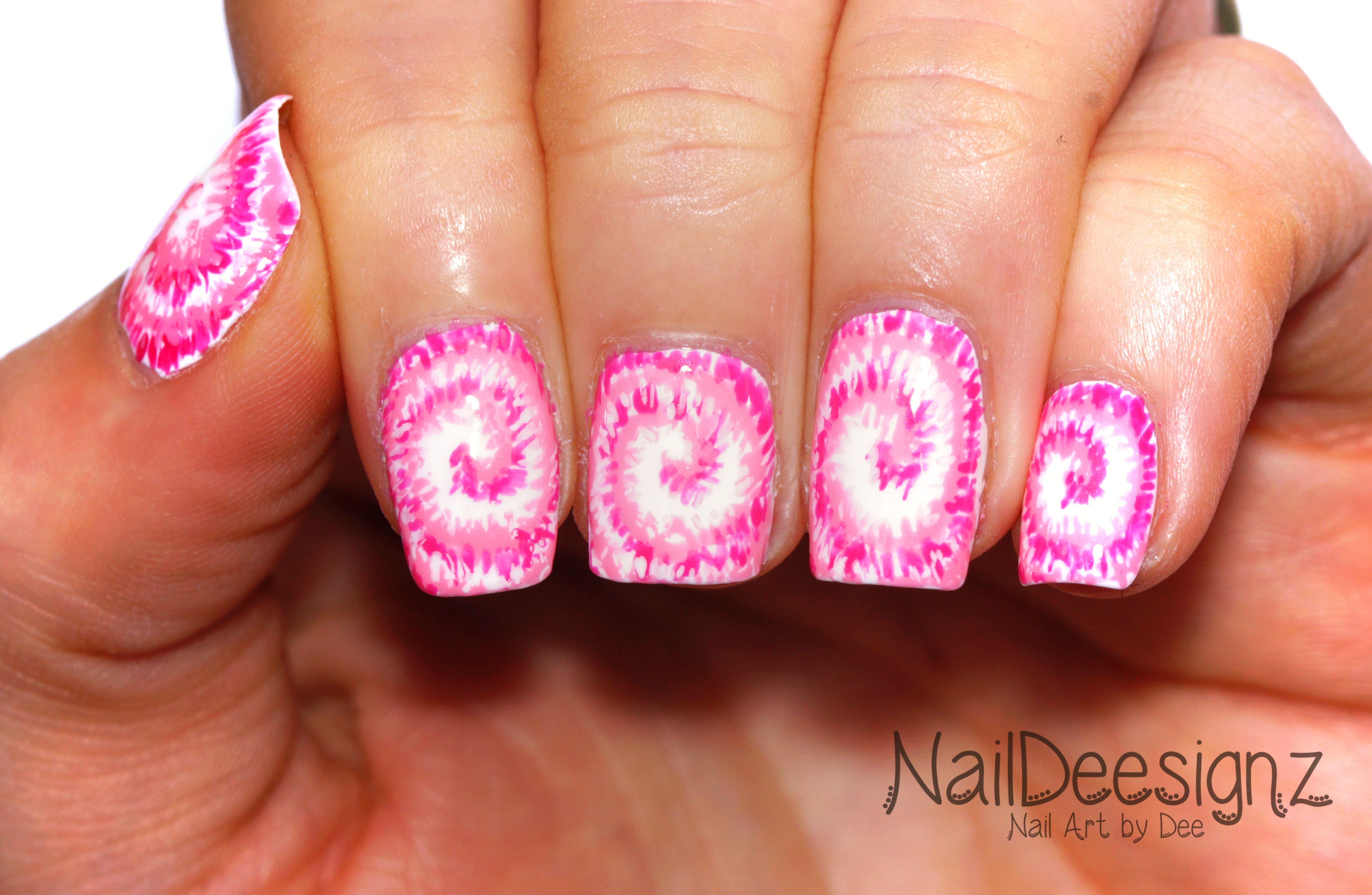 Tie-Dye Nail Art .x. http://naildeesignz.blogspot.co.uk/2017/05/pink ...