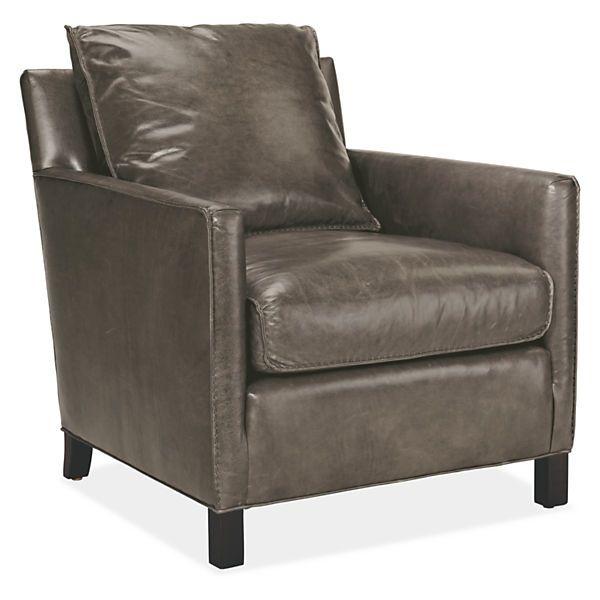 Bram Leather Chair U0026 Ottoman