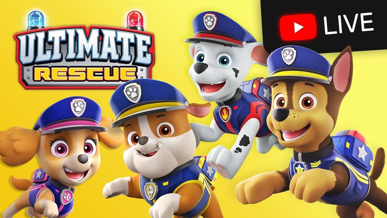paw patrol ultimate rescue marathon 🔴 cartoons for kids