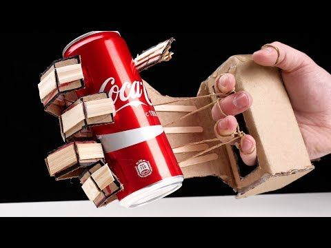 How to make hydraulic powered robotic arm from cardboard plans