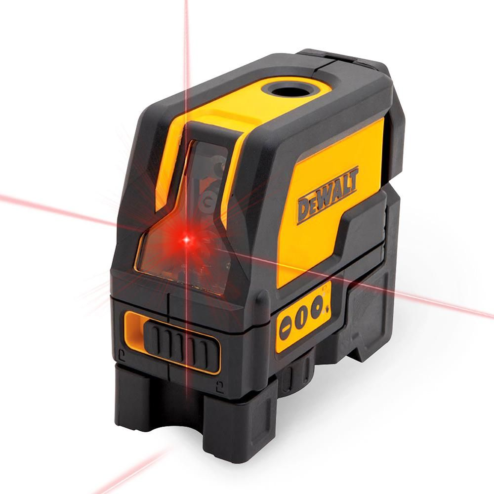 Dewalt Self Leveling Cross Line And Plumb Spots Laser Level Laser Levels Dewalt Home Depot