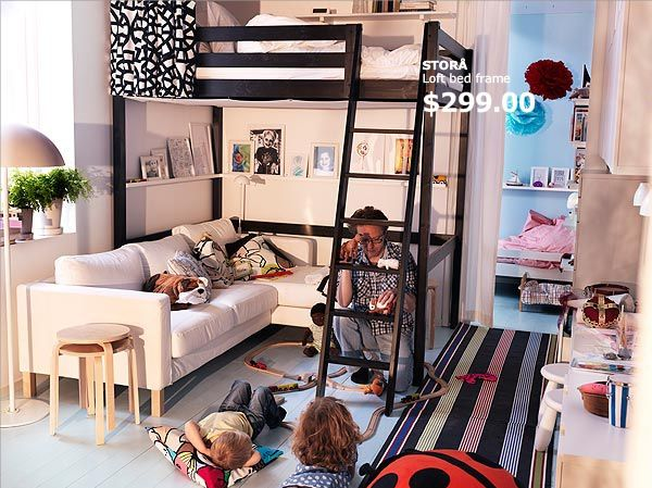 Super Small Space Living Inspiration Ikea Ikea Loft Bed Ikea