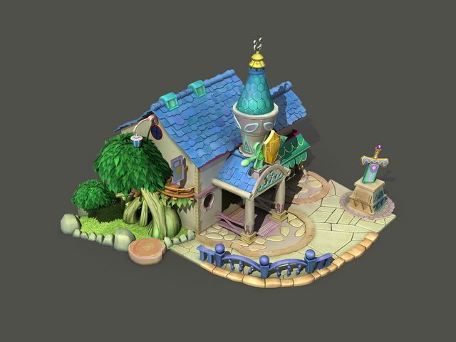Cartoon House 3d Model 3dsmax Files Free Download Modeling 19094