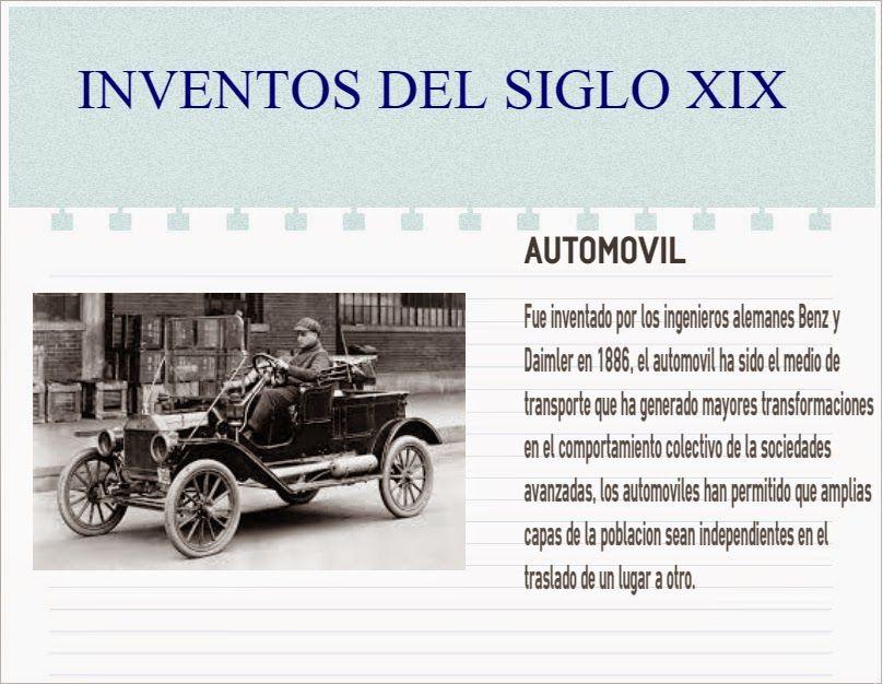 Hacer Historia Inventos Del Siglo Xix Infografías Historia