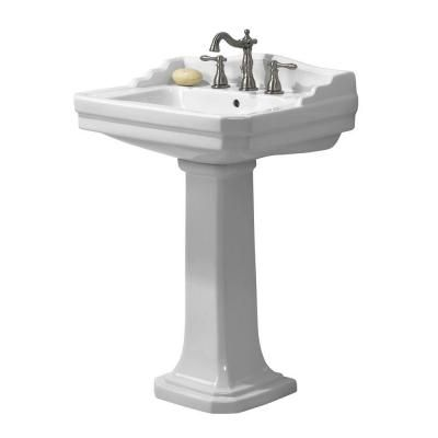 Foremost Series 1930 Lavatory And Pedestal Combo In White Fl 1930
