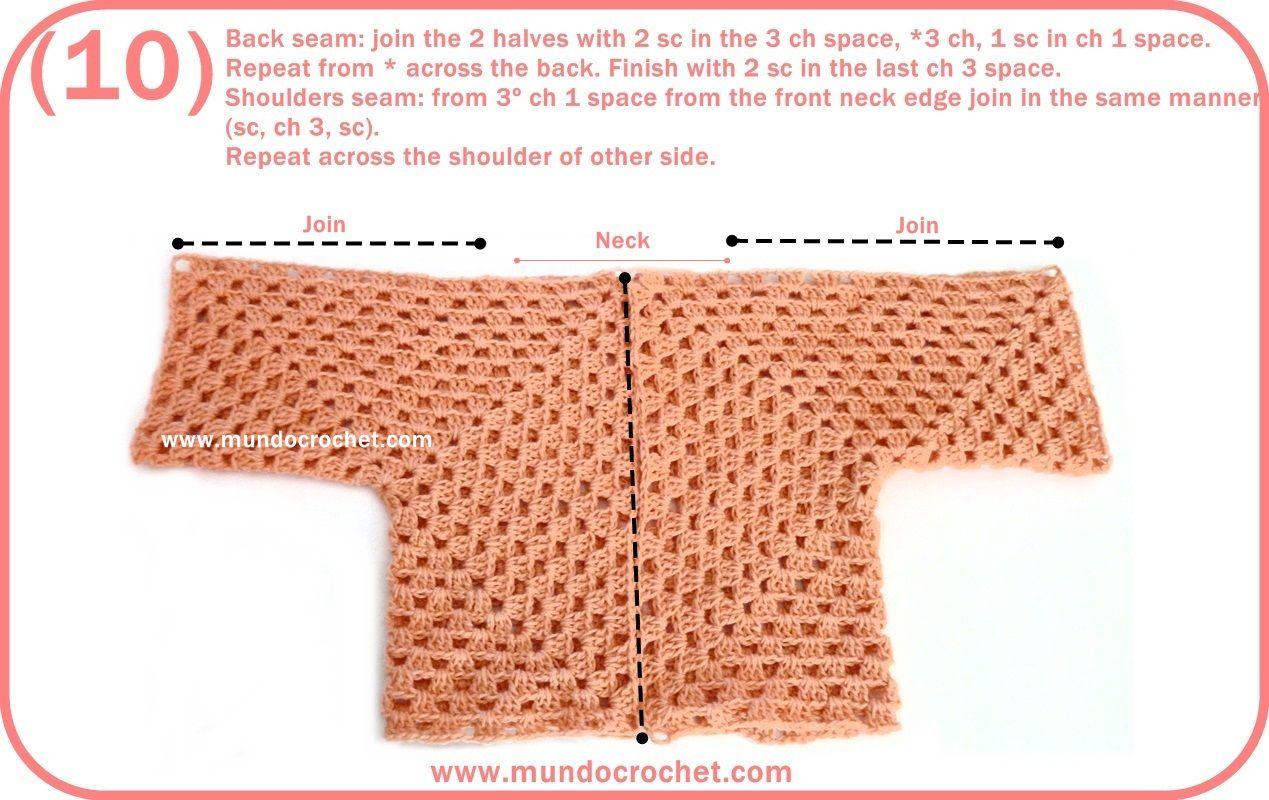 Crochet baby hexagon jacket / Crochet baby hexagon sweater   Crochet ...