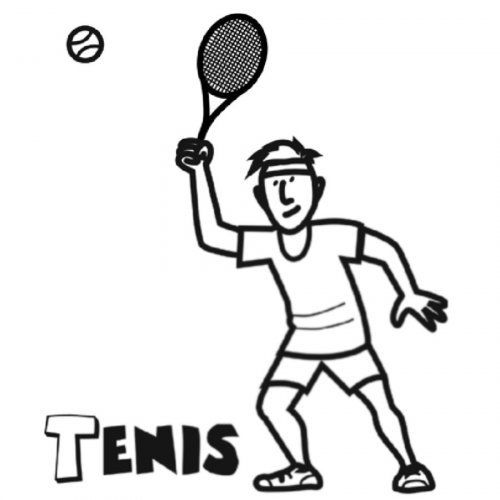 Dibujo de tenis para imprimir y pintar | Esports | Pinterest ...