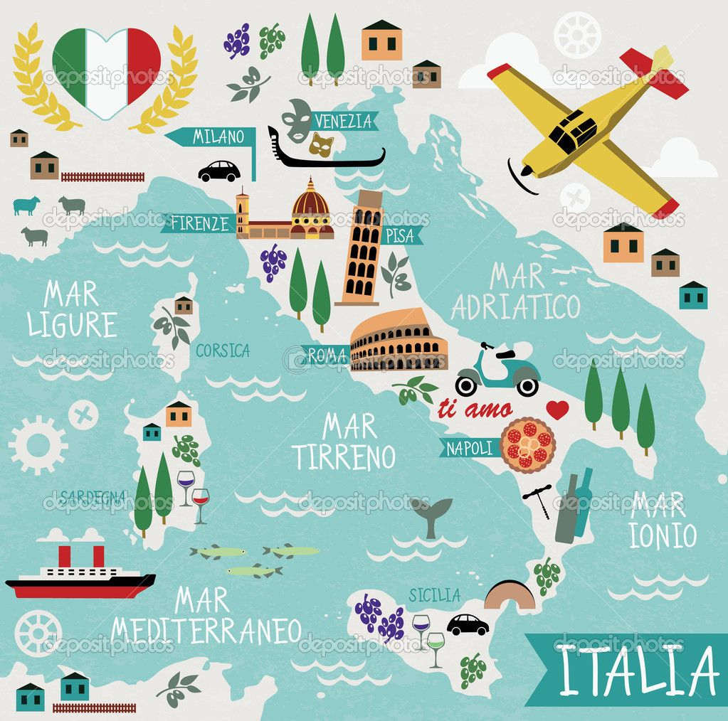 dibujos de italia   Buscar con Google | figuras | Italy map, Italy
