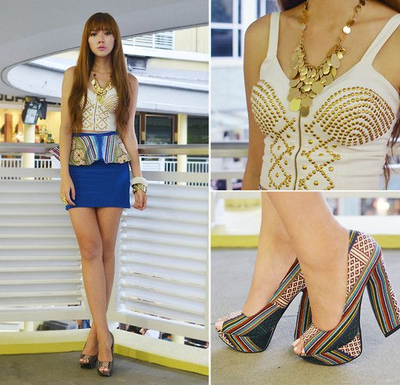 Tribal Peplum (by Camille Co) http://lookbook.nu/look/3958348-Tribal-Peplum