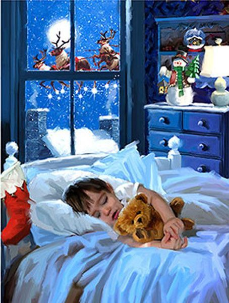 Christmas Eve Buddies Jigsaw Puzzle Christmas art Pinterest
