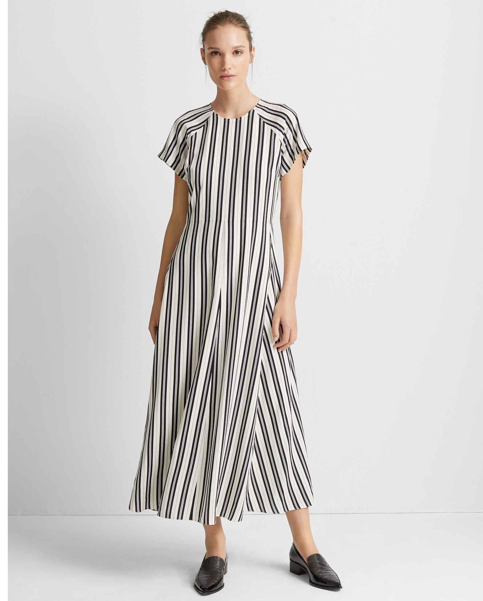 Striped Midi Dress Striped Midi Dress Short Sleeve Dresses Fashion [ 1954 x 1570 Pixel ]