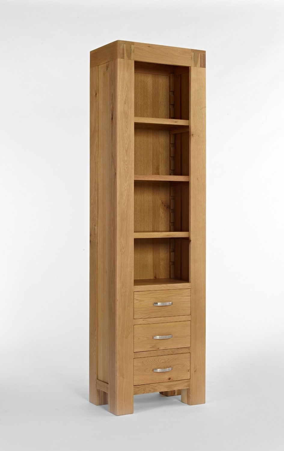 Santana Blonde Oak Slim Bookcase This Range Is Crafted From