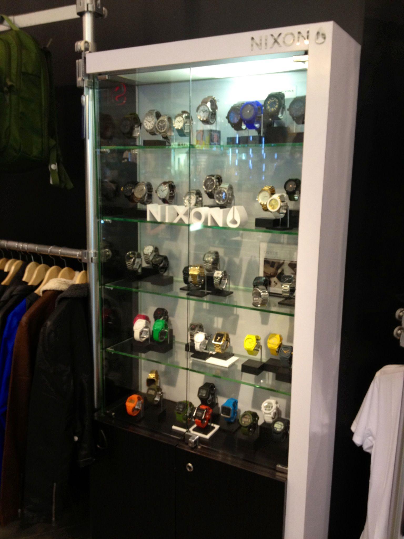 Nixon watch display cabinet at Tangs Vivo  Watches