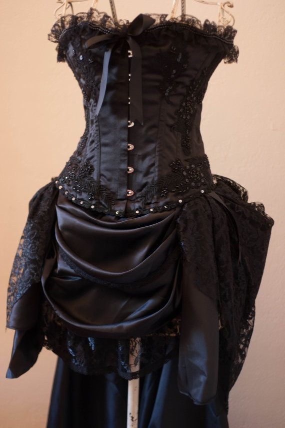 Etsy listing at for Steampunk corset wedding dress
