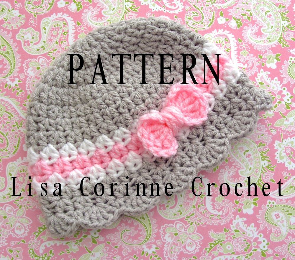 Baby hat crochet pattern baby girl hats pattern crochet bow baby hat crochet pattern baby girl hats pattern crochet bow pattern toddler crochet hat pattern bankloansurffo Images
