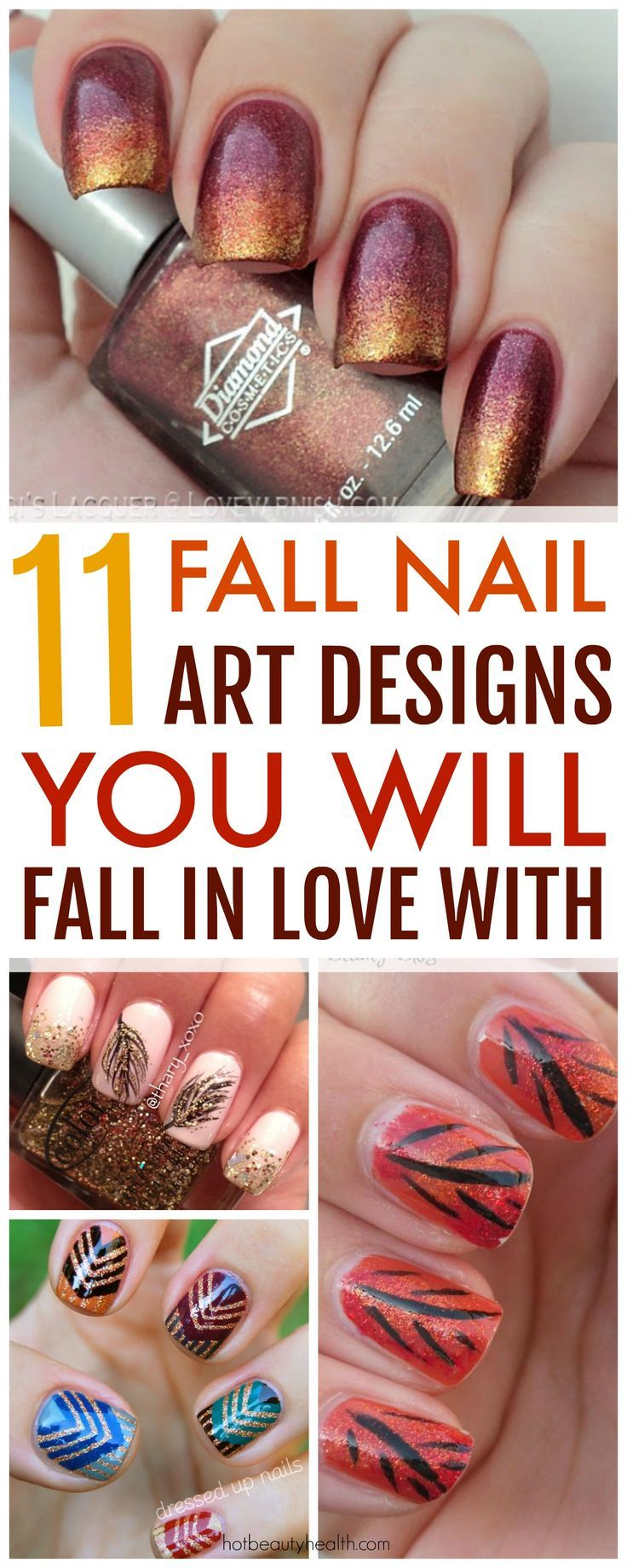 11 Fall Nail Art Designs You Need To Try Now Pinterest Nagel En