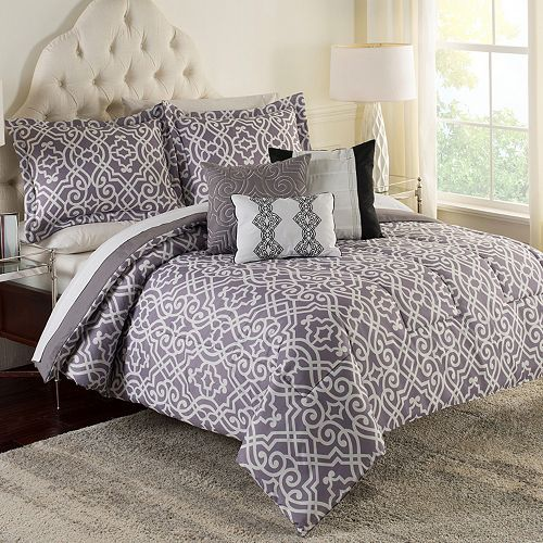 Jessica Mcclintock Home Fretwork 6 Pc Comforter Set Comforter