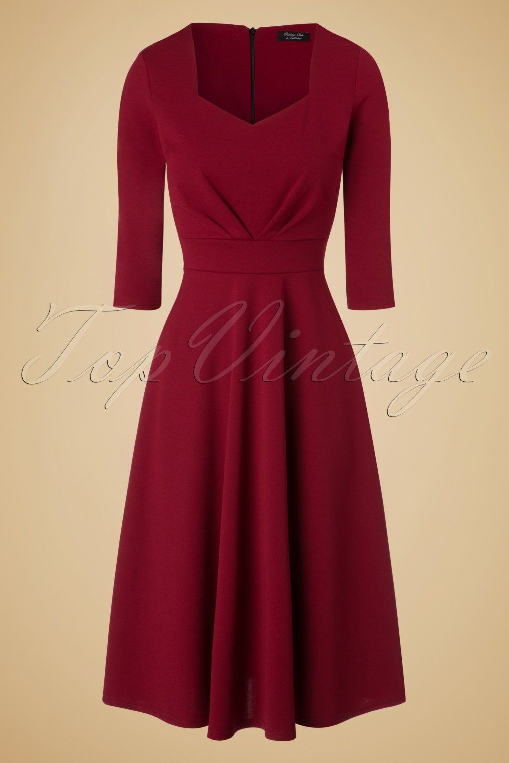 Feminine and flirty this 50s Ruby Swing Dress! Wow, such a stunner ...