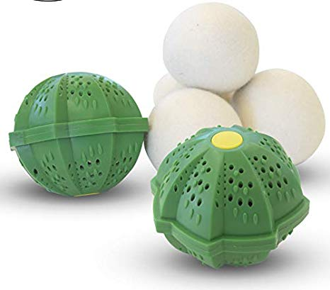 Smartwashbasics Wash Balls Wool Dryer Laundry Balls Wash Wizard
