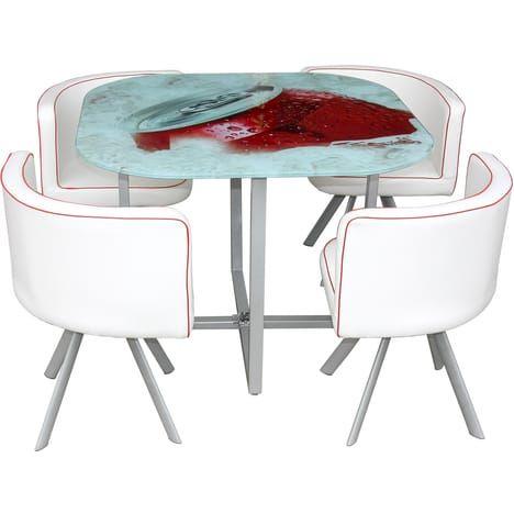 Coin repas blue table verre sérigraphié pas cher table à manger auchan iziva com