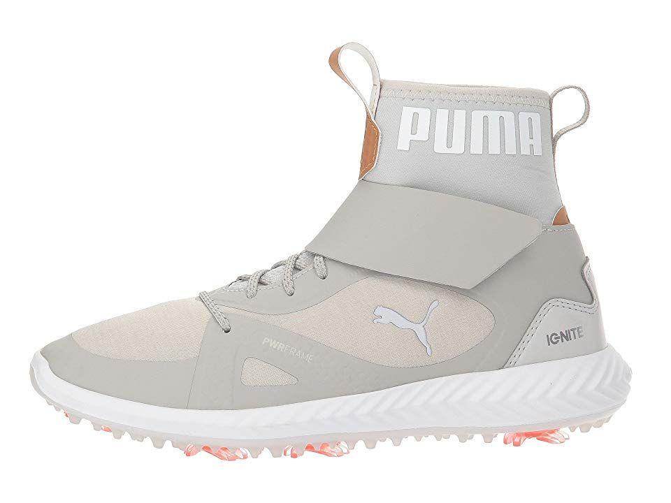 6acaf70a7703 PUMA Golf Ignite Power Adapt Hi-Top Jr (Little Kid Big Kid) Men s Golf  Shoes Gray Violet Puma Silver