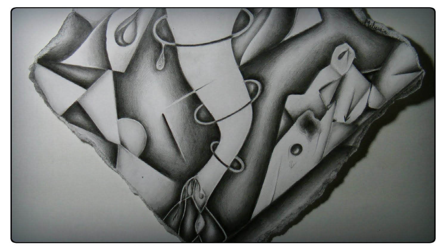 Abstract pencil drawing - Distorted (com imagens)