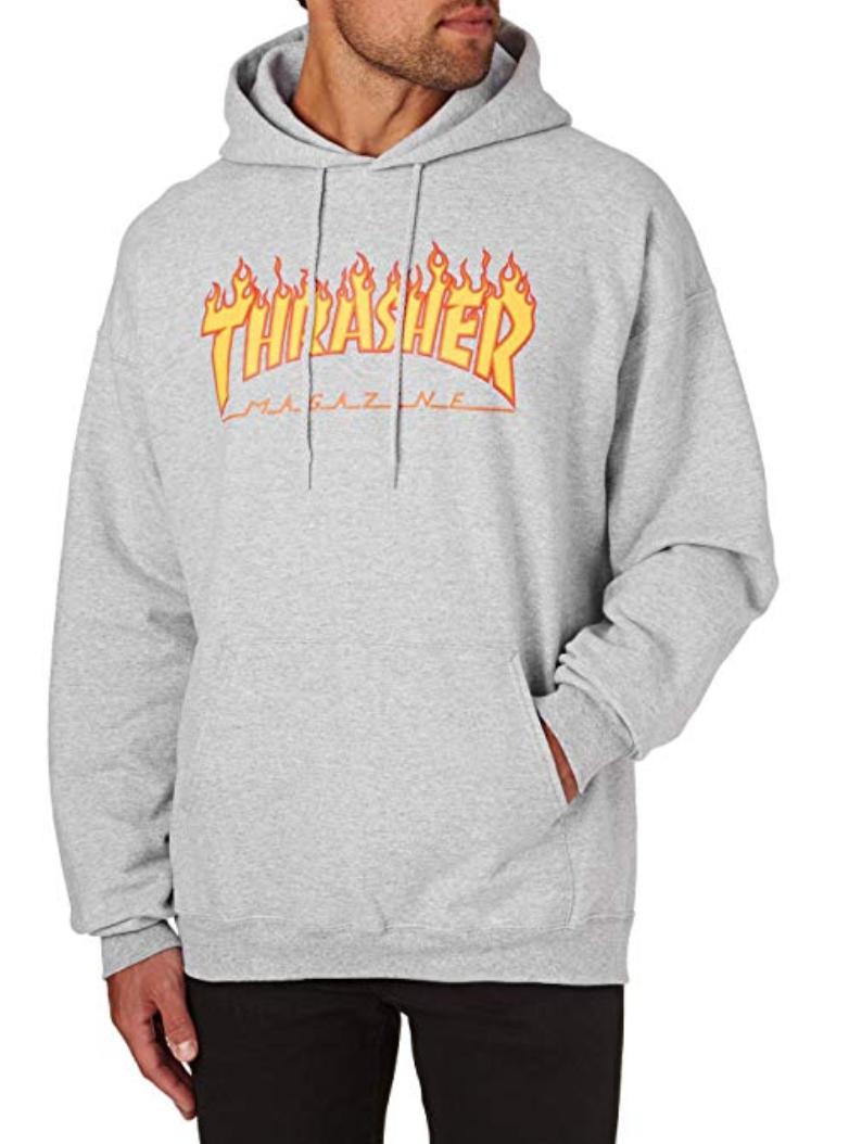364b042ef168 FOR SALE: Sweater Hooded Men Thrasher Flame Hoodie GREY THRASHER HOODIE FOR  SALE. thrasher shirt grey thrasher hoodie cheap thrasher outfit thrasher ...