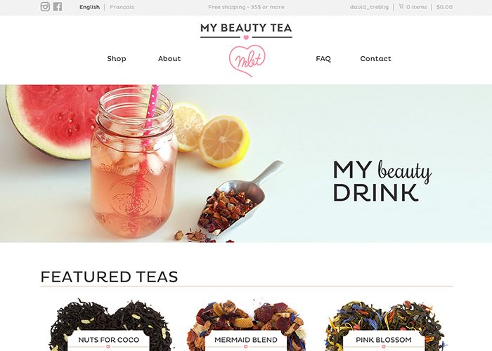 My Beauty Tea Nominee June 10 2014 Beauty Drinks Web Design Inspiration My Beauty