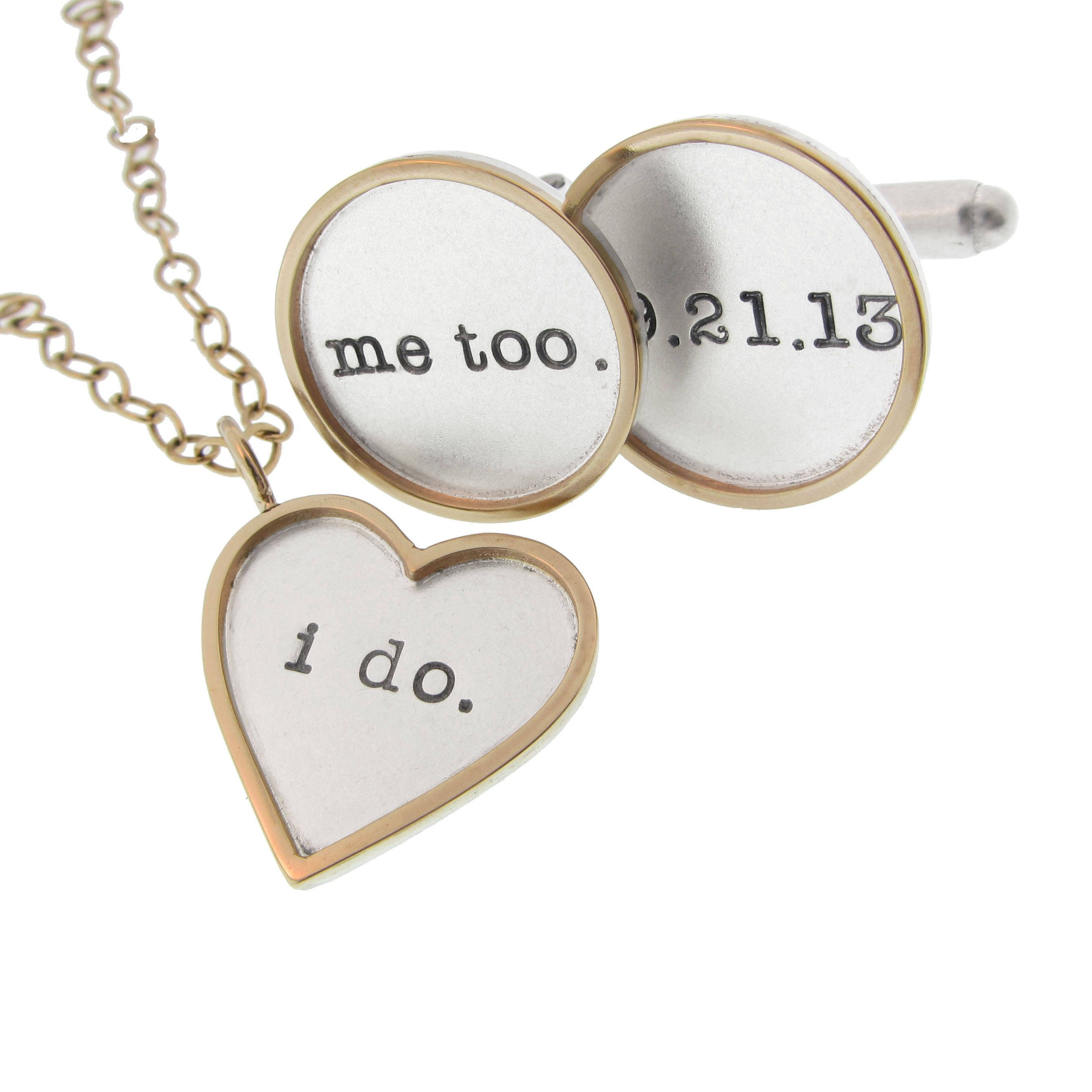 I Do.. Me Too - Bride and Groom Wedding Gift Set - Checkout this ...