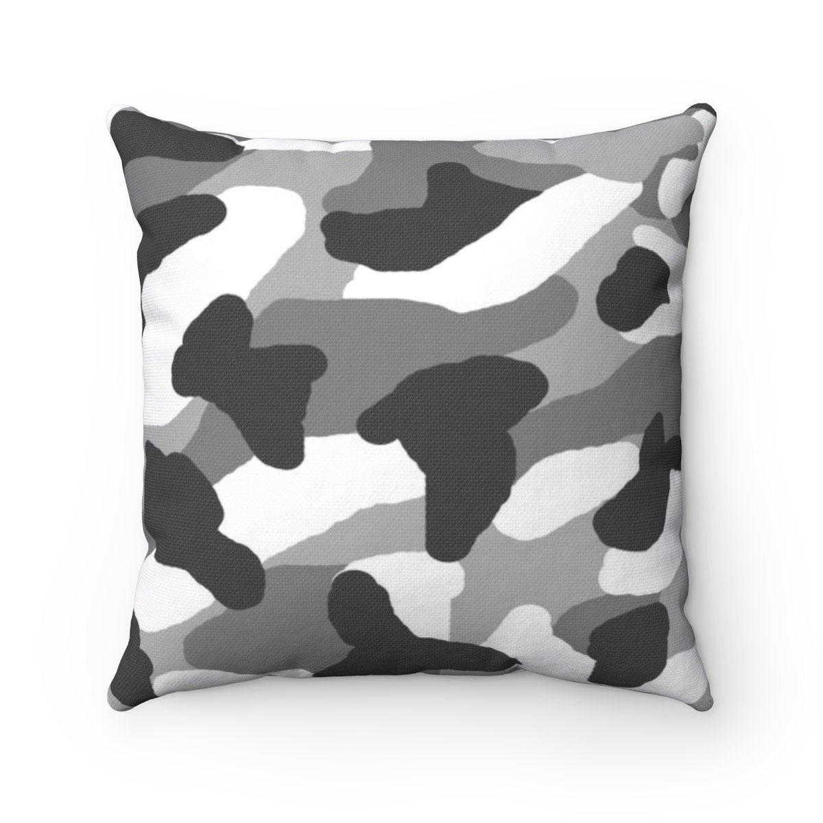 Gray Camo Pillow Square Grey Camouflage Rustic Farmhouse Sofa Etsy Camo Bedding Farmhouse Sofa Pillows