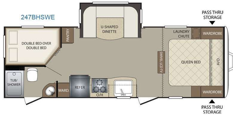 Travel Trailer With Queen Bed And Bunk Beds Google Search Floor Plans Keystone Bullet Travel Trailer
