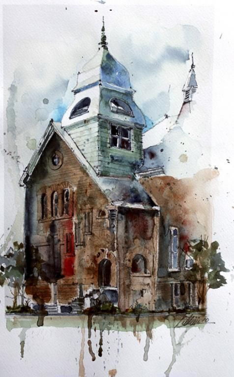 Mohd Watercolors Watercolor Art Watercolor Architecture Painting