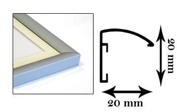 Cornici in alluminio Serie X/Star finitura alluminio