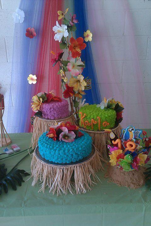 Hawaiian Cake Cakes Hawaiian Party Decorations Moana