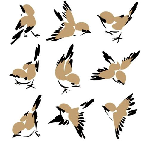 Cute Sparrow Vector Flying Sitting Free Vector Birds