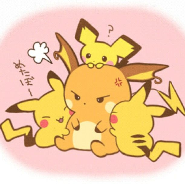 ๑ ๑ Anime Art Raichu And Pichu Bilder Poker Anime