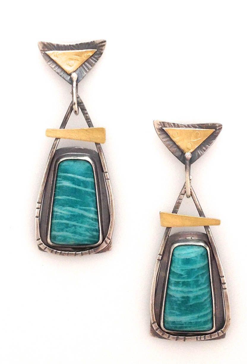 Elaine Rader Jewelry Galleries  |  Amazonite Earrings  $195.00