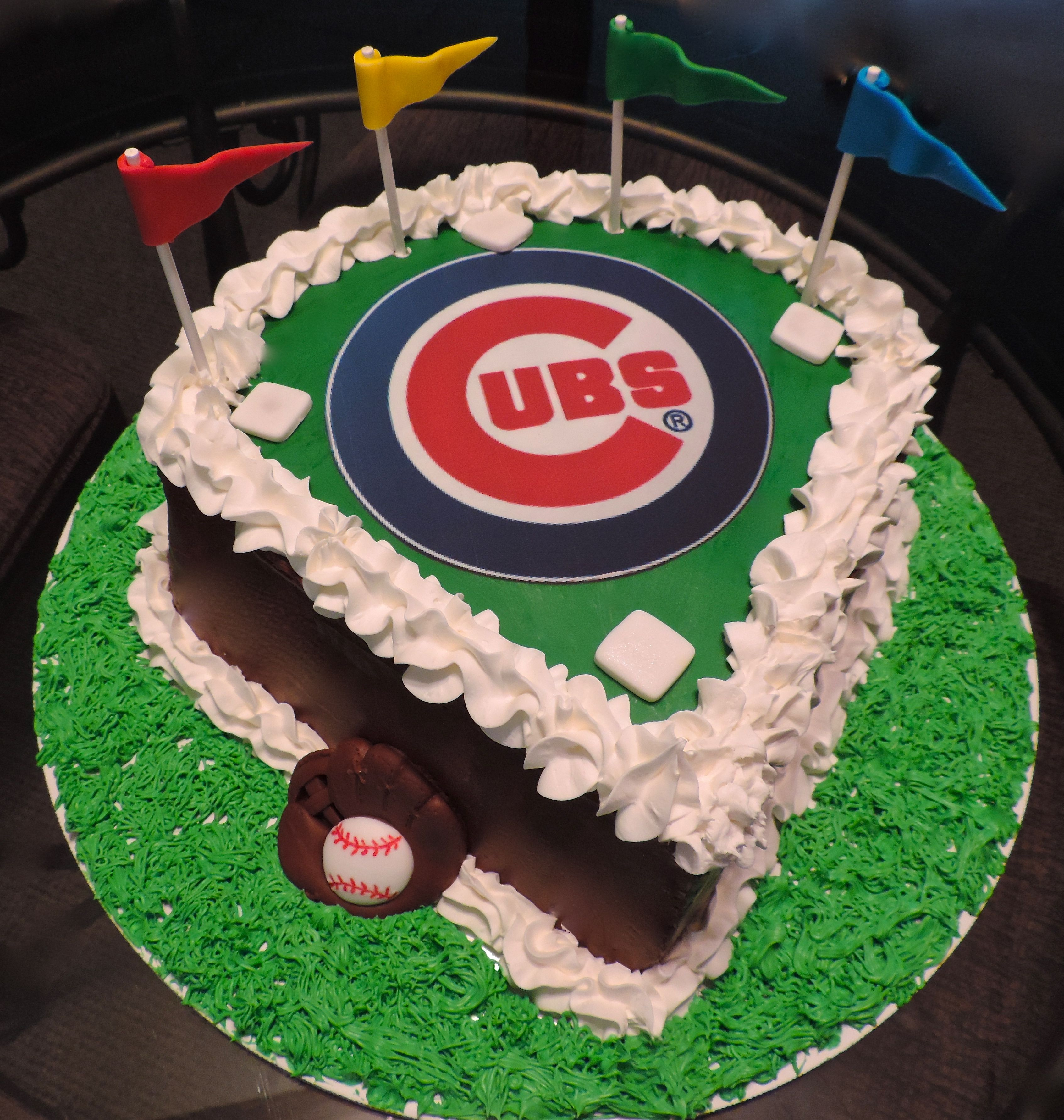 Chicago Cubs Cake My Cakes Amp Confections Pinterest
