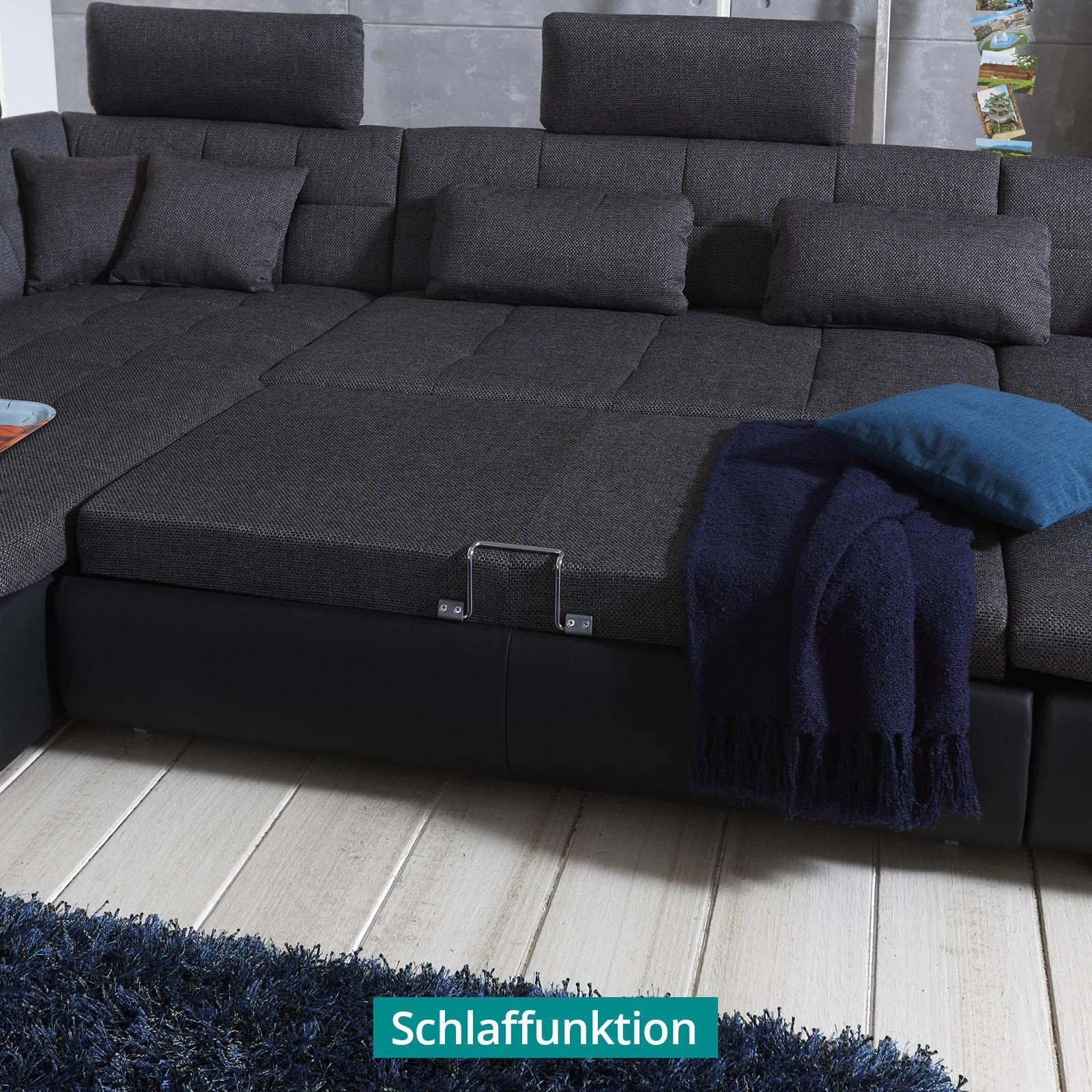 wohnlandschaft individuell free schwarz h cool comfy. Black Bedroom Furniture Sets. Home Design Ideas