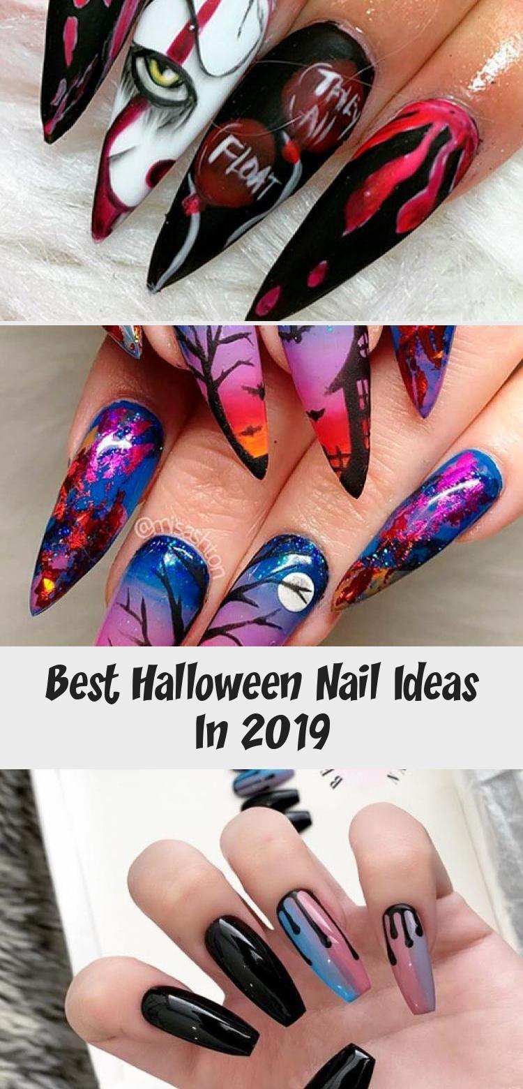 Amazing Coffin Shaped Halloween Pumpkin Nails For Halloween 2019 Halloween Halloweennails Halloweennailart P In 2020 Cute Halloween Nails Pumpkin Nails Skull Nails