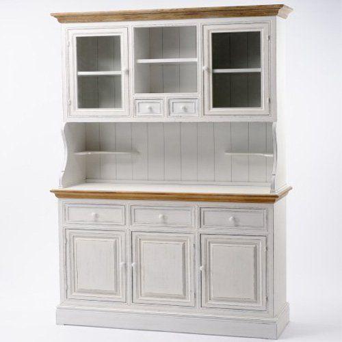 Holzschrank Küchenschrank Landhausstil weiß Schrank Neu Pajoma - küchenschrank mit glastüren