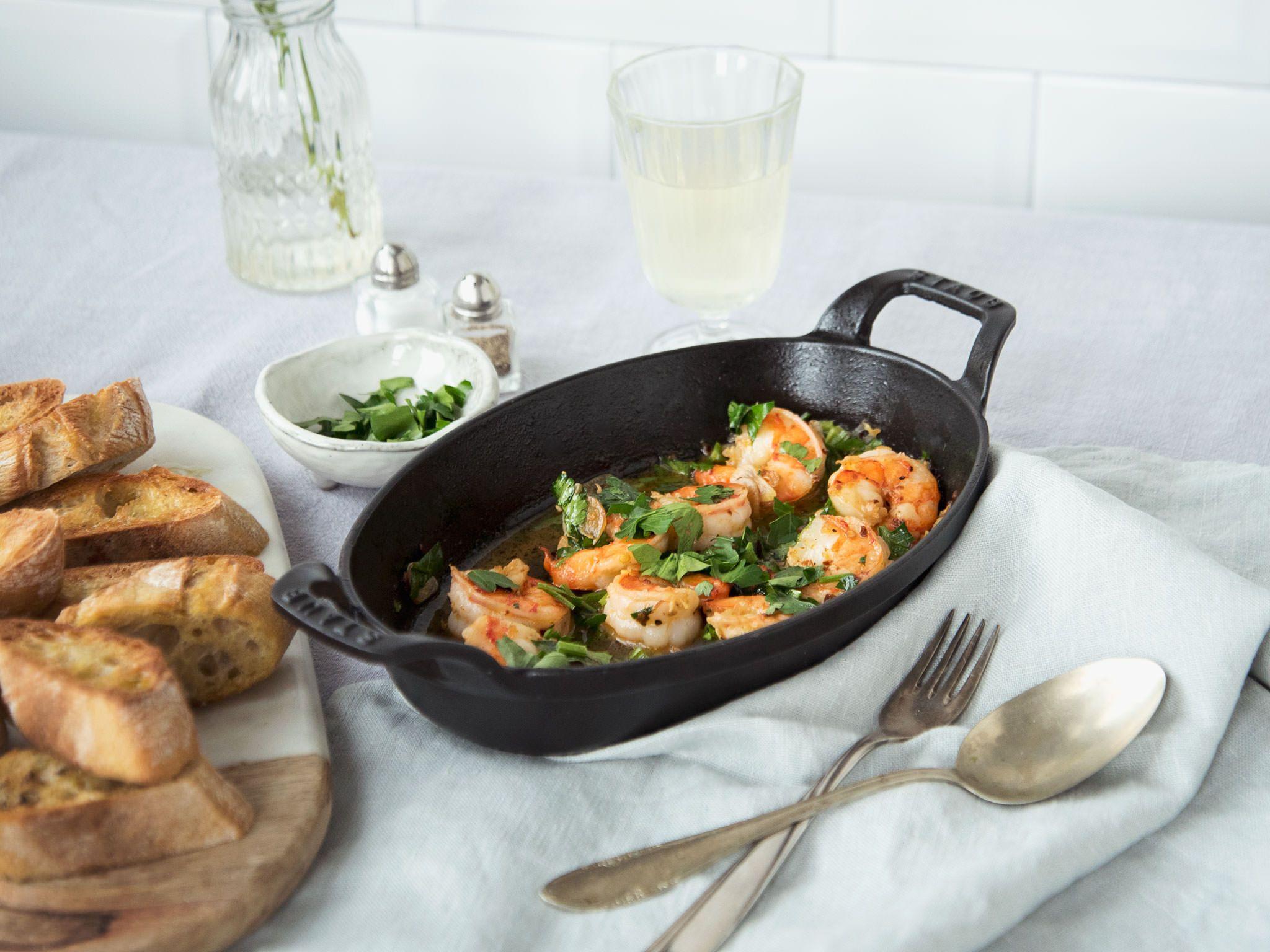 Spanische Knoblauch-Garnelen #garlicshrimprecipes