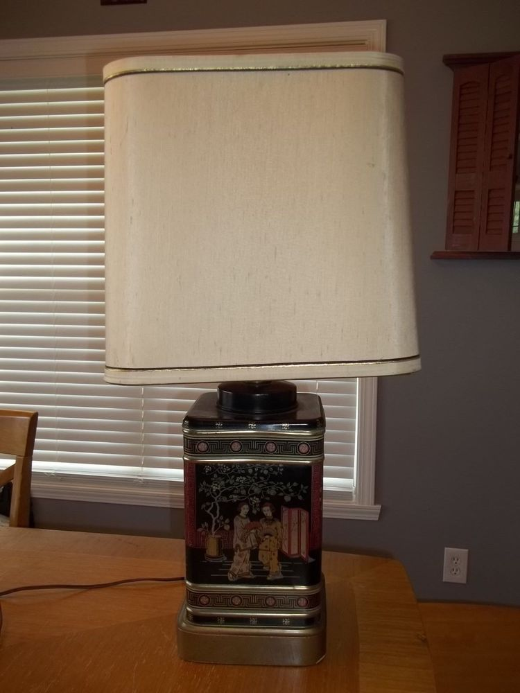 i bought two vintage frederick cooper tea caddy lamps exactly like this one for 35 each