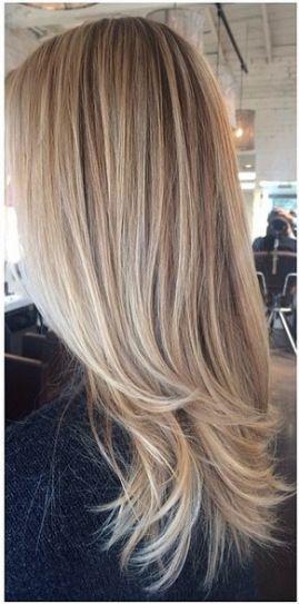 Natural Blonde Highlights Haare Farben Ideen Haarfarben Blonde Haare
