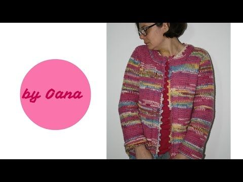 f28fd7ca83bb Tunisian crochet Jacket - YouTube